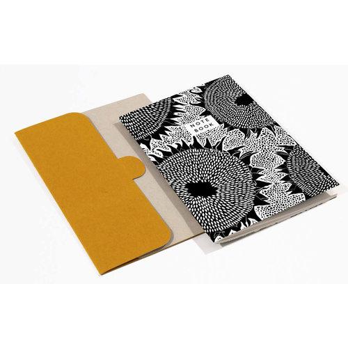 Wald Sunflower  Pattern A5 Notebook with folder  04