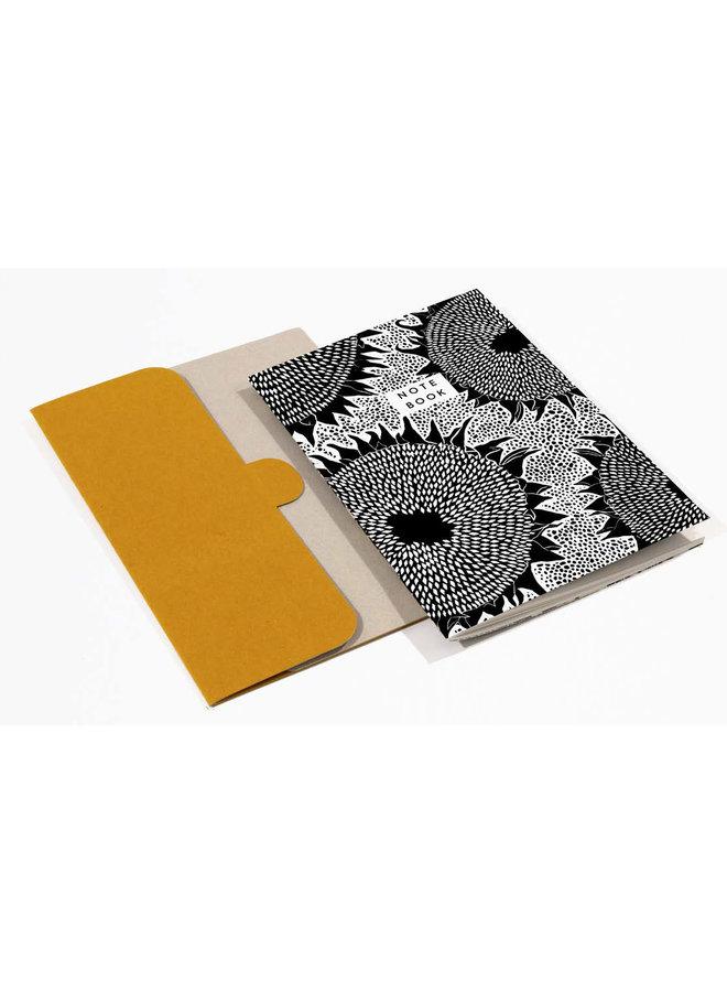 Sonnenblumenmuster A5 Notizbuch mit Ordner 04
