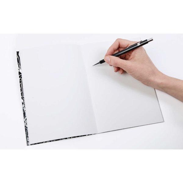Zonnebloempatroon A5 Notitieboek met map 04