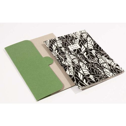 Wald Avocado Pattern A5 Notebook mit Ordner 05