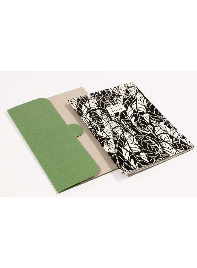 Avocado Pattern A5 Notebook mit Ordner 05