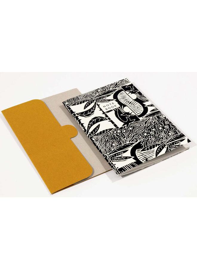 Tropic Pattern A5 Notebook mit Ordner 06