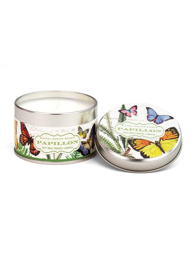 Papillon Reisekerze in einer Dose