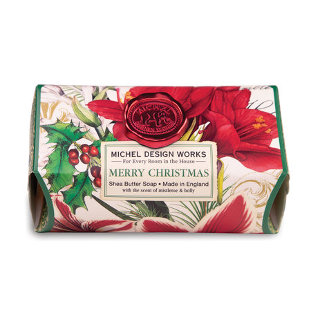 Michel Design Works Merry Christmas Large Bath Shea Soap Bar