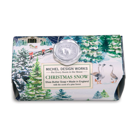 Michel Design Works Christmas Snow Grote Bath Shea Soap Bar