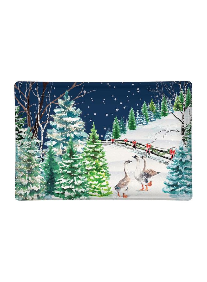 Christmas Snow Glass Soap Dish