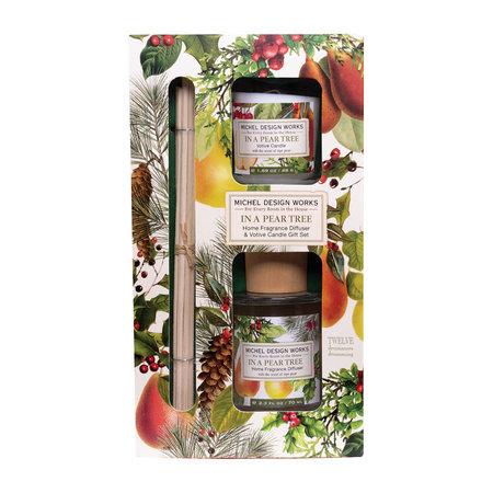 Michel Design Works In een set met perenboomverspreider en votiefkaars