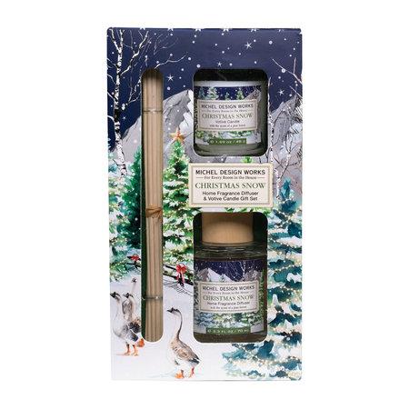 Michel Design Works Kerst Sneeuwverspreider & Votiefkaarsenset