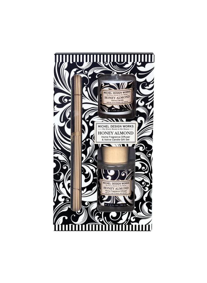 Honig und Mandel Diffusor & Votiv Kerzen Set
