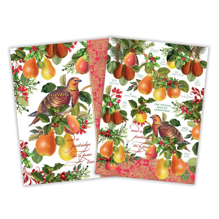Michel Design Works In a Pear Tree Kitchen Towel Set of 2