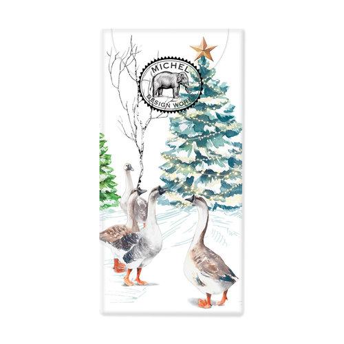 Michel Design Works Christmas Snow 10 Pocket Paper Tissues