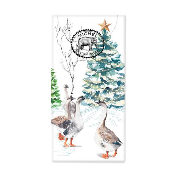 Christmas Snow 10 Pocket Paper Tissues
