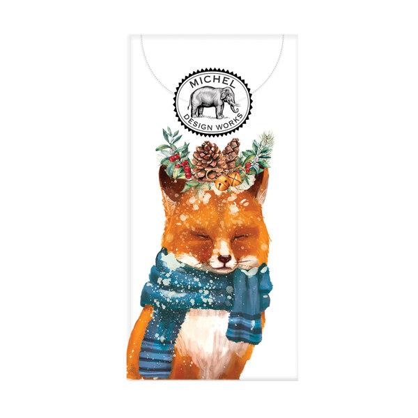 Christmas Fox 10 Pocket Paper Tissues