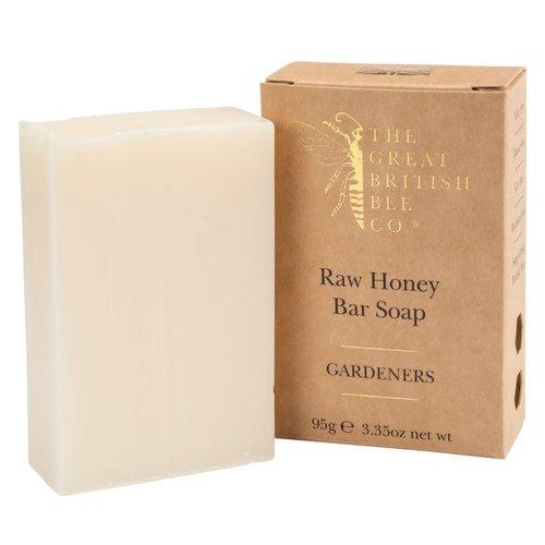 The Great British Bee Co. Jabón de barra de miel cruda Gardners 95 g
