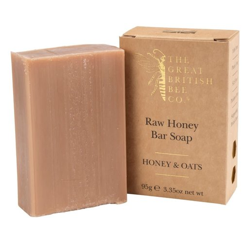 The Great British Bee Co. Raw Honey Bar Soap Honey and Oats 95 gm