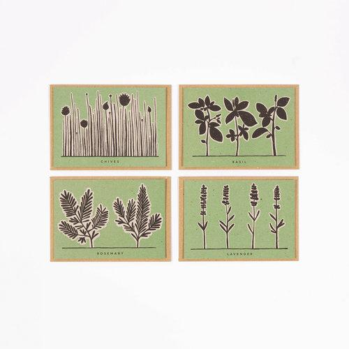 Wald Tarjetas de recetas de hierbas de jardín 12