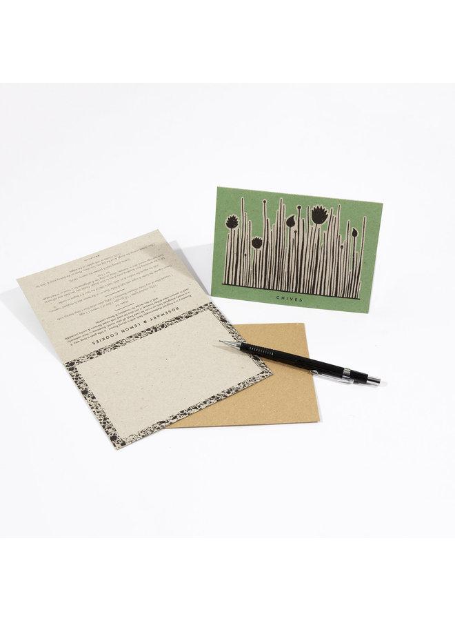 Gartenkräuter Rezept Notecards 12