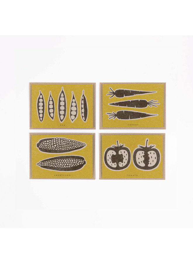 Vegane Gemüserezept-Notizkarten 11