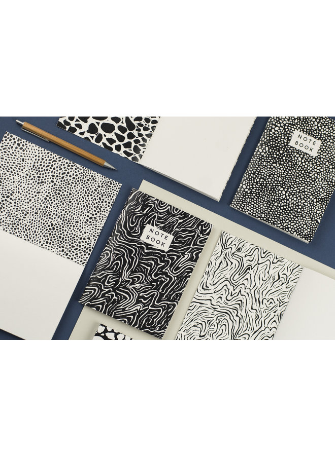 Cobble  Pattern A6 Notebook Set of 2   07