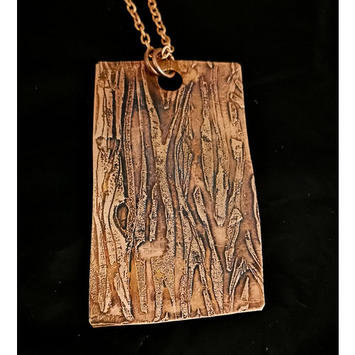 Inky Linky Woodgrain grote koperen hanger 19