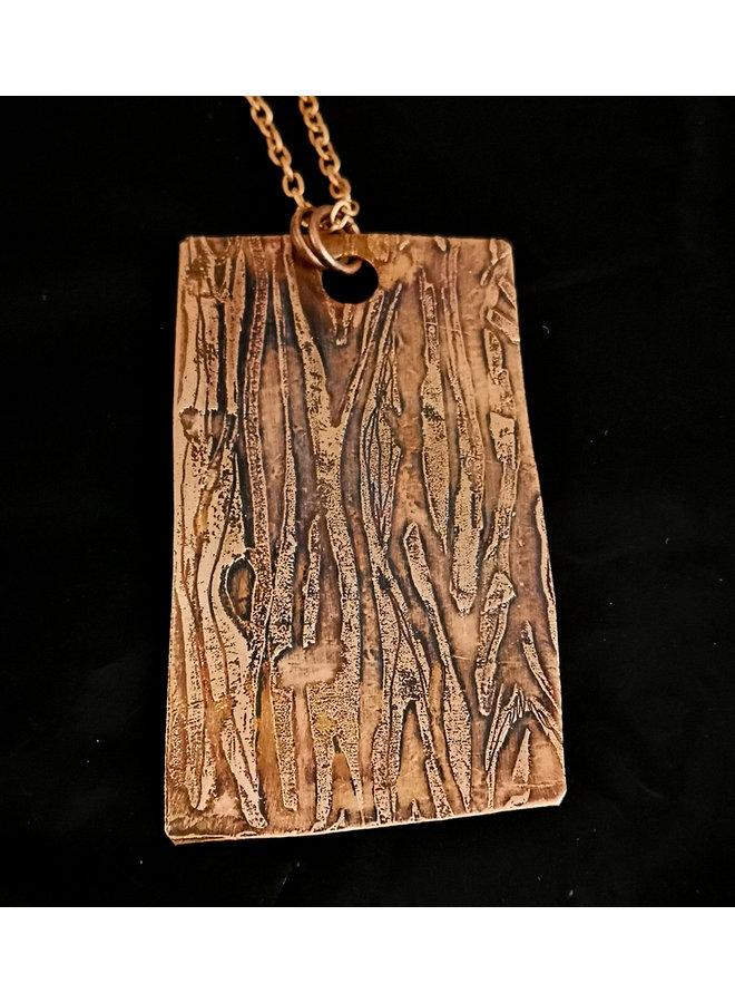 Holzmaserung großer Kupferanhänger 19
