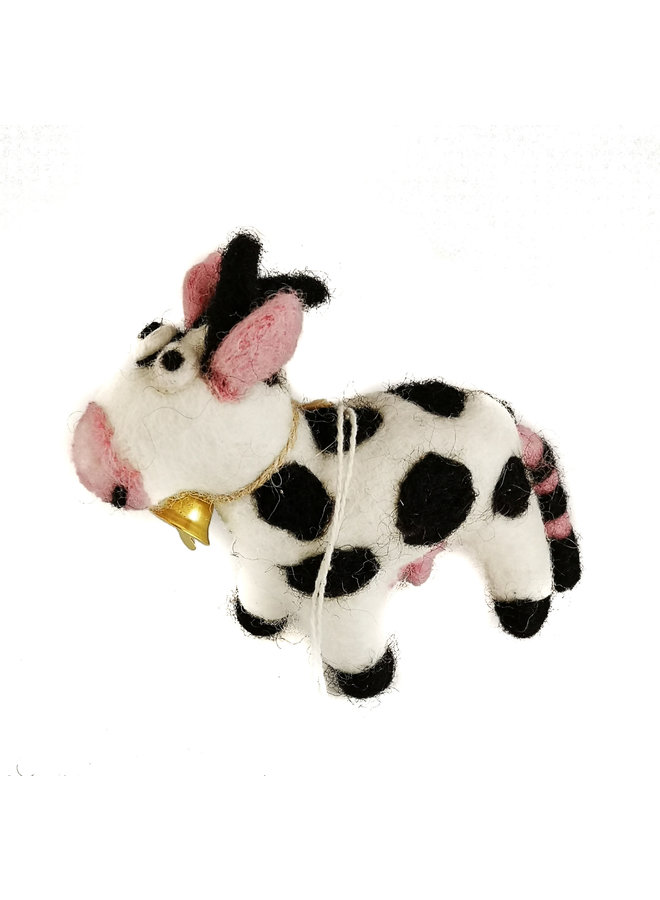 Daisy the Cow Felt  Ornament  05