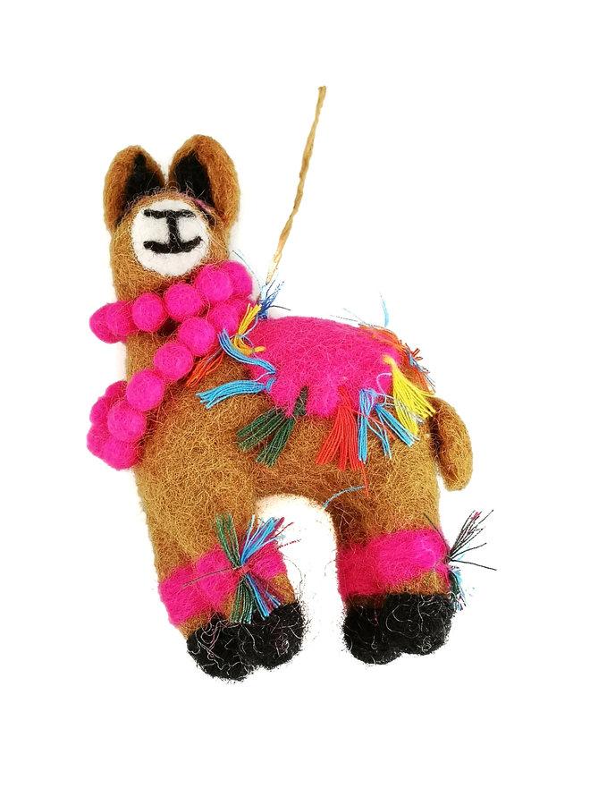Llama Fiesta Felt  Ornament  06