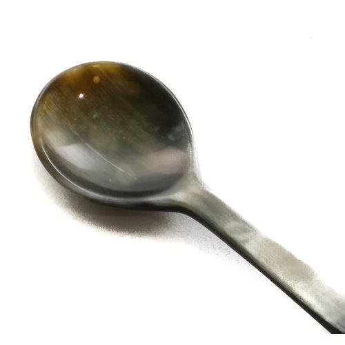 Abbey Horn Round sugar spoon horn short handle