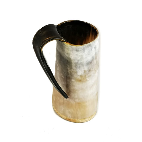 Abbey Horn Polished  Horn Drinking  Mug  Tappered Handle 50