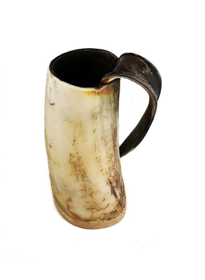 Rustikaler Horn Trinkbecher Tappered Griff 51