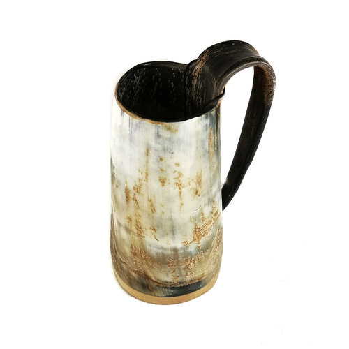 Abbey Horn Rustic  Horn Drinking  Mug  Tappered Handle 52
