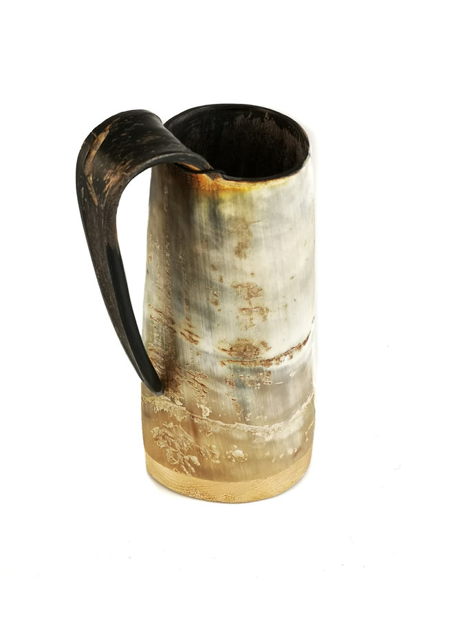 Rustikaler Horn-Trinkbecher-Griff 52