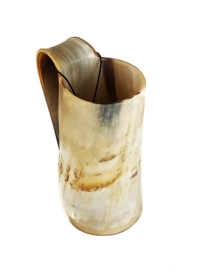 Rustikaler Horn Trinkbecher Tappered Griff 53