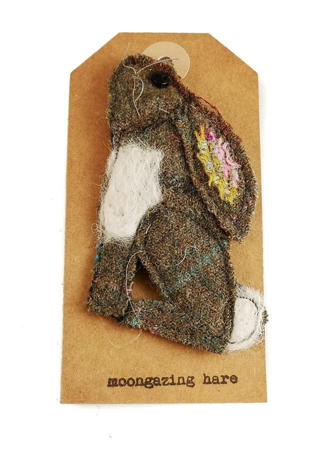 Hare Creature Felt Brooch 12