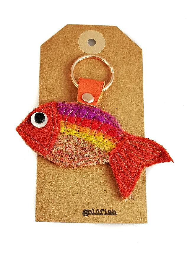 Goldfisch-Kreatur fühlte sich Schlüsselring 17