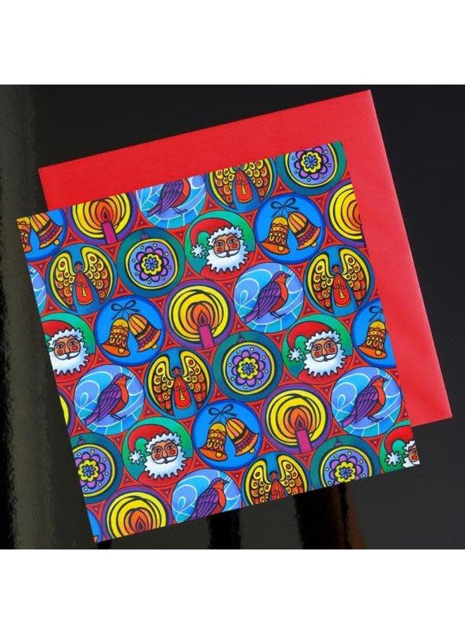 Weihnachten in kleinen Kreisen 15 x 15 cm