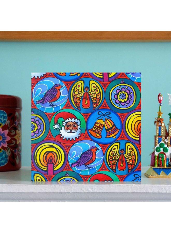 Weihnachten im Kreis 15 x 15 cm