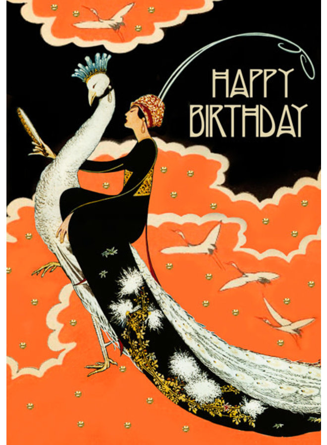 The Mirror  Birthday glitter  card