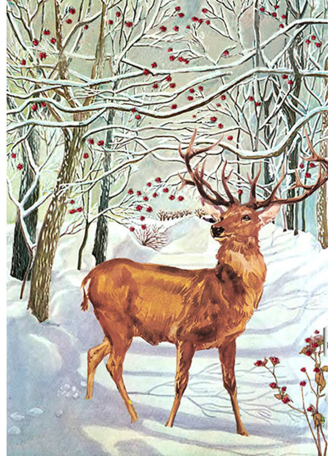 Snow Stag glitter  card