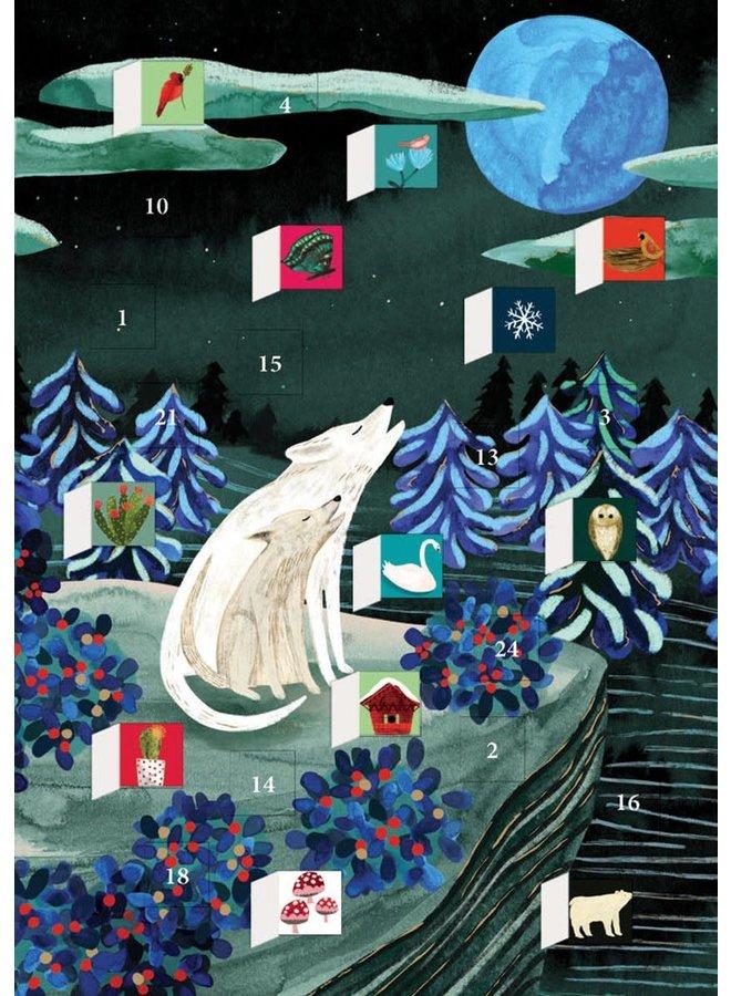 The Light of the Moon Advent Calendar Card