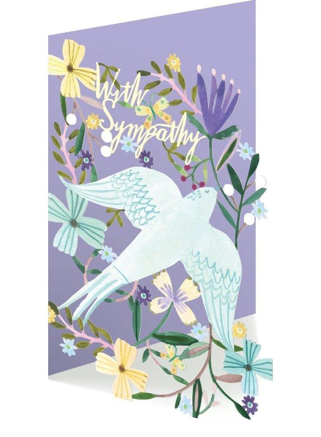 White Dove Sympathy 3D-Karte
