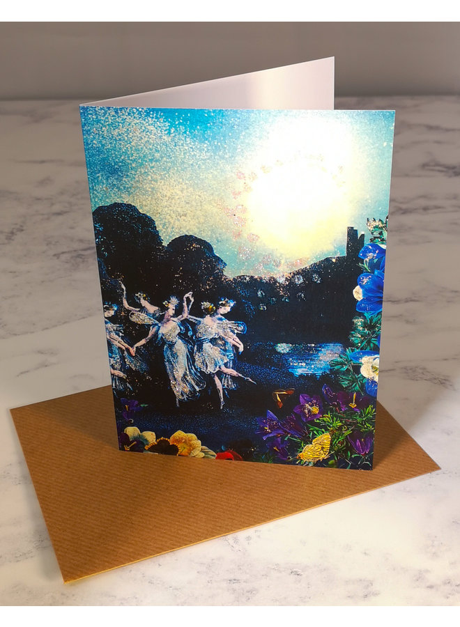 By Monlight Vintage Glitter Card 70