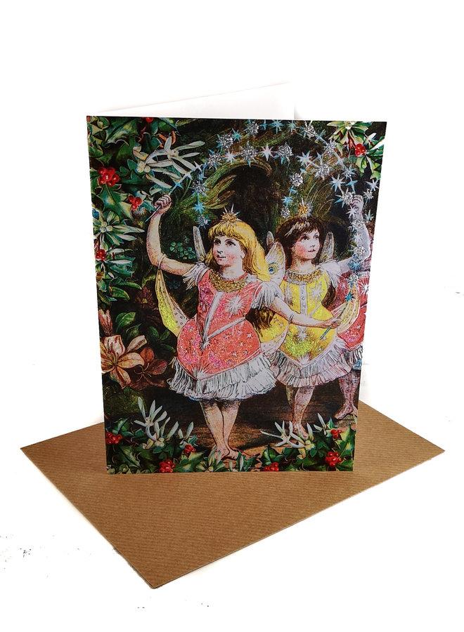 Pantomime Vintage Glitter Card 80