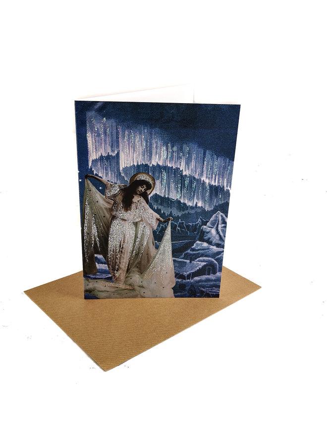 Aurora Vintage Glitter Card 81