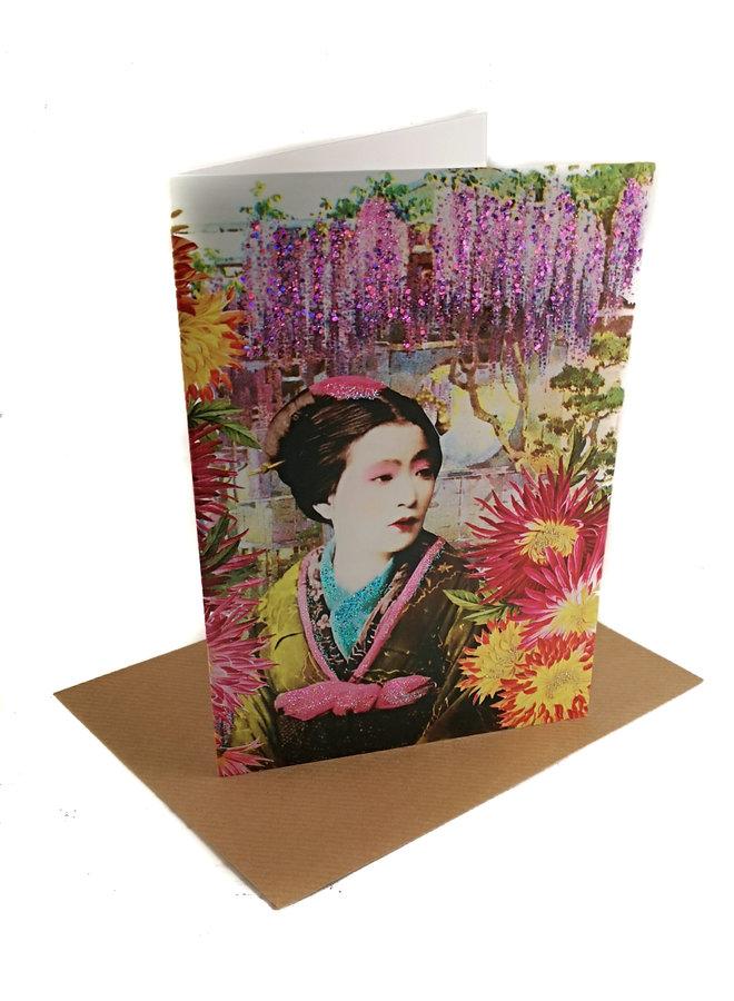 Floating World Vintage Glitter Card 83