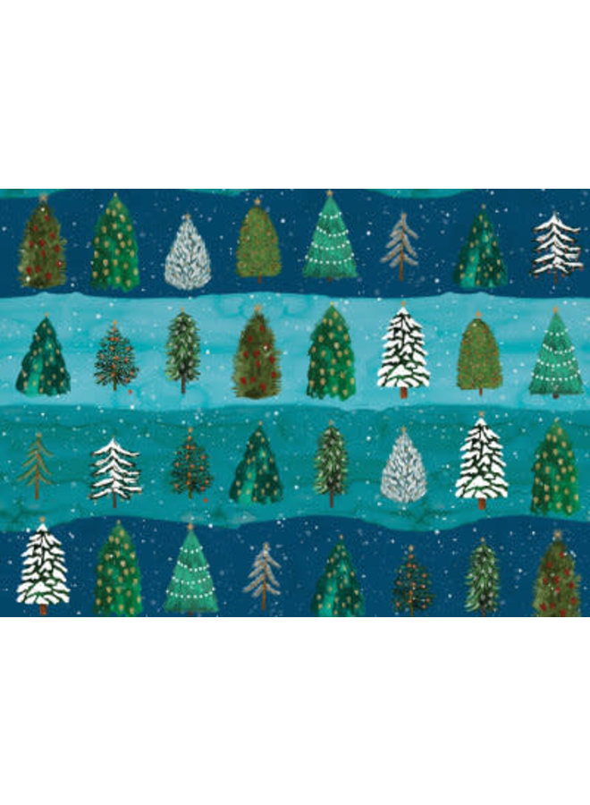 Conifer Tree reversable gift wrap