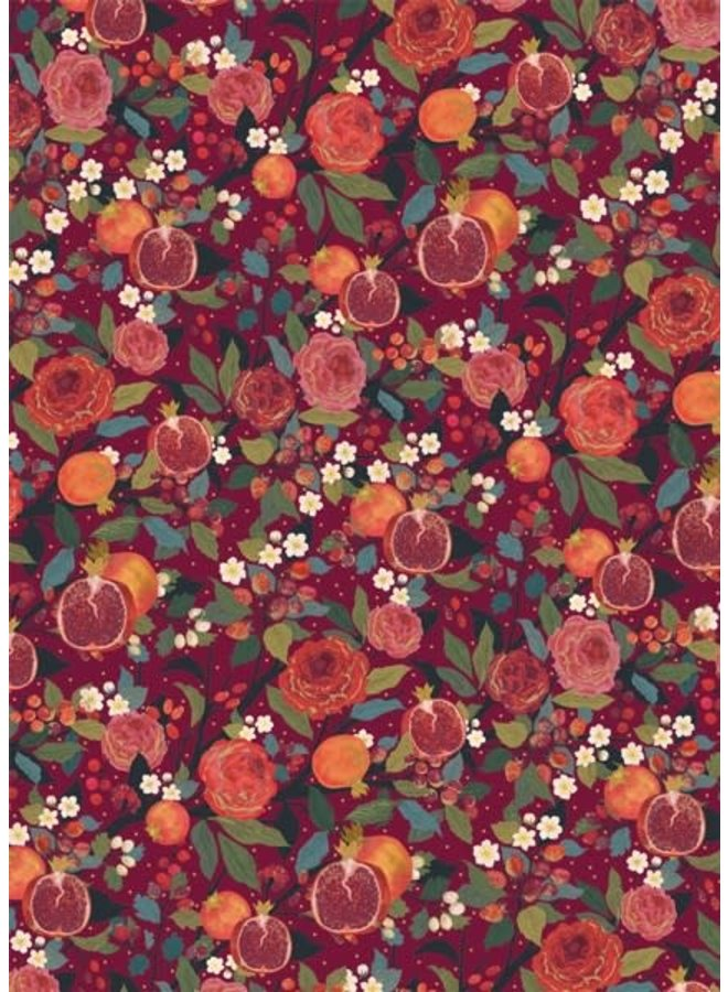Pomegranites and Roses  gift wrap 43