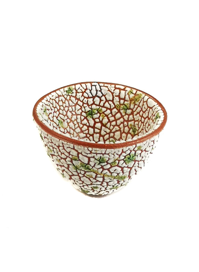 Tiny Crackle Dotted Lime Bowl 18