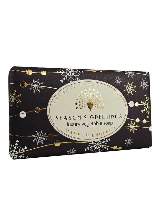 Seasons Greetings Luxury Vintage Wrap Soap
