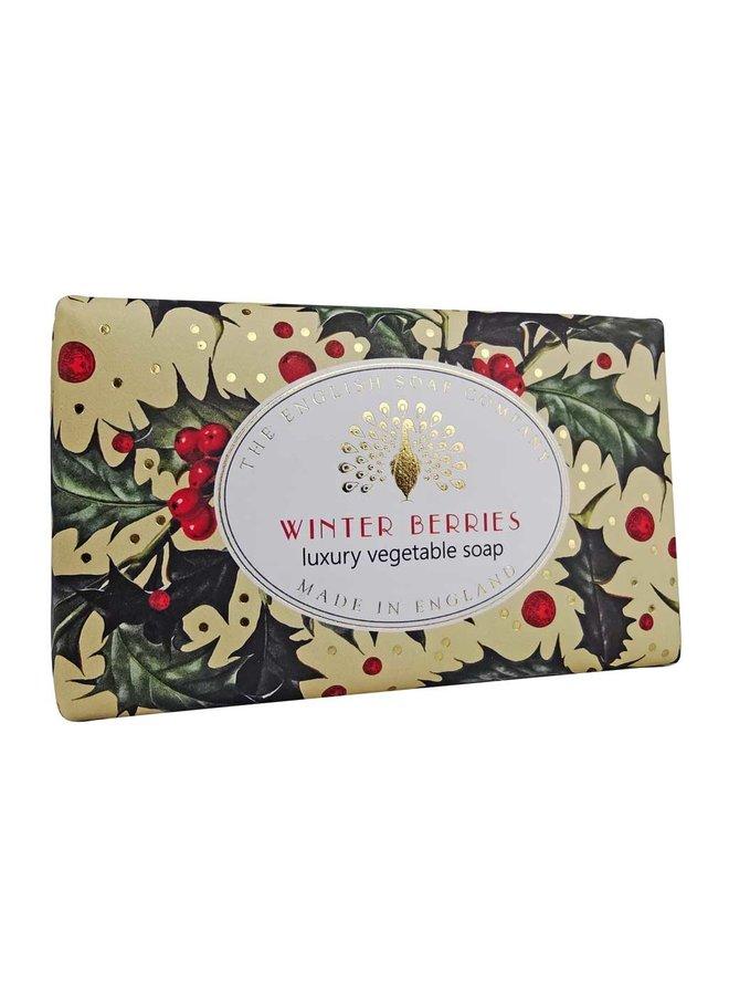 Winter Berries  Luxury Vintage Wrap Soap